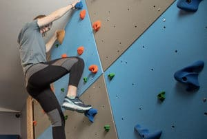Climbing fitness wall in Sister Bay