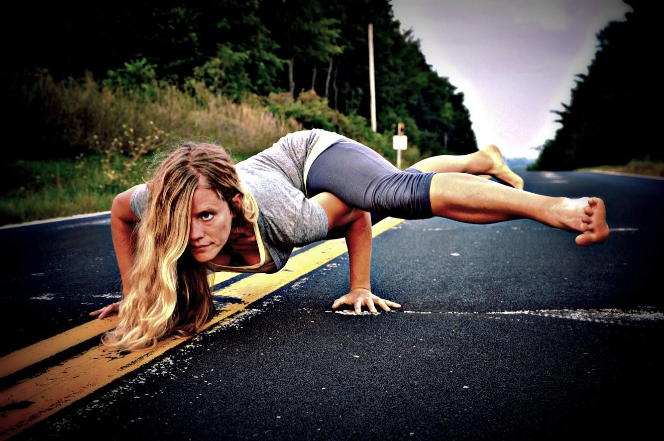 Rachael: Flying Splits yoga pose